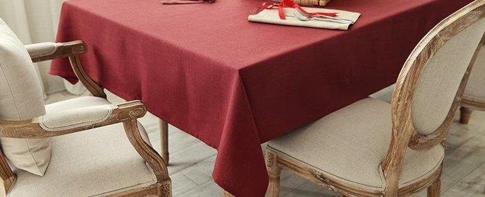 居家家飾設計 會議桌巾系列 長桌巾-尺寸150*270cm-毛性紗/深紅 超厚防皺毛性紗 不起毛球/不縮水