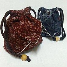 日本高級布料手工精細和風包 束口包 手拿包 精緻 禮品 茶具 茶杯 泡茶 中size 滿三個免運