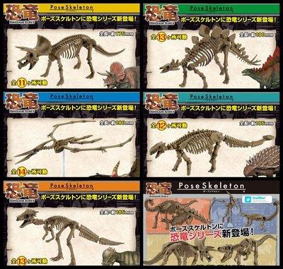 【Pose Skeleton】RE-MENT 盒玩 日本正版 日貨 恐龍 可動關節 骷髏 化石 骨頭 模型 玩具 收藏