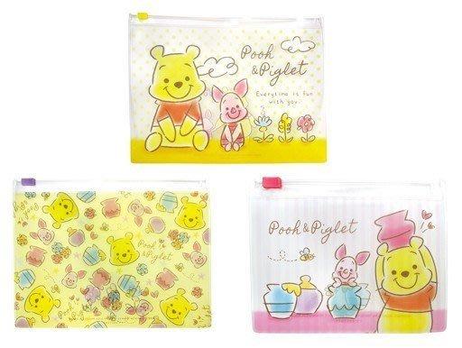 日本 迪士尼 小熊維尼 多功能小物/口罩收納袋/夾鏈袋(三入)一組