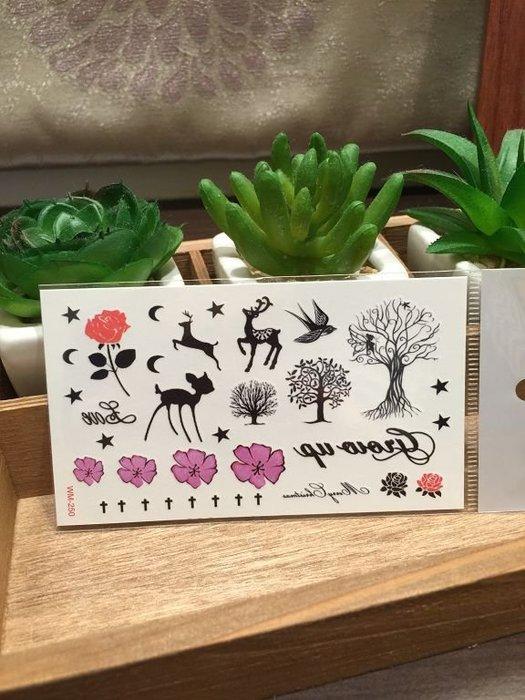【萌古屋】M系列森林小鹿 - 男女防水紋身貼紙原宿刺青貼紙WM-250