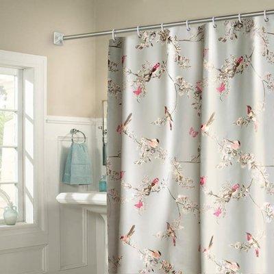 浴簾浴室洗澡掛簾子套裝防水防霉加厚免打孔衛生間廁所隔斷窗簾布
