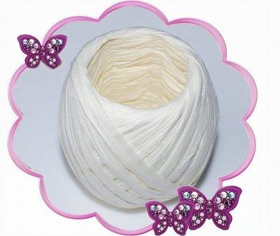 QQ豬 (白色) 20米 天然拉菲草繩 紙繩 包裝禮盒的好幫手 回購享95折