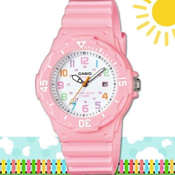CASIO 時計屋 卡西歐手錶 LRW-200H-4B2 女錶 指針錶 橡膠錶帶 粉 保固一年  附發票