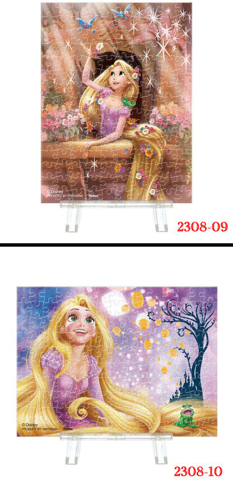 拼圖專賣店 日本進口拼圖 2308-09   2308-10  長髮公主 樂佩 150片迷你透明塑膠系列拼圖