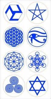 神聖幾何符號貼紙組+兒童碟各1