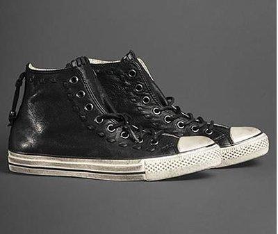 全新 Converse x John Varvatos 黑色皮鞭髒汙限量高價版 9