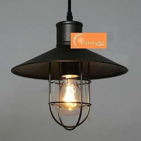 【LUNA LIGHT 月之燈坊】美式鄉村風復古LOFT吊燈(P-316)無玻璃款,燈泡另購