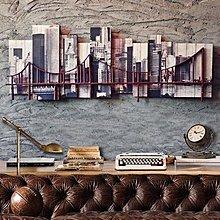 經典城市建築鐵藝立體裝飾畫美式複古金門大橋模型壁飾辦公室掛件*Vesta 維斯塔*