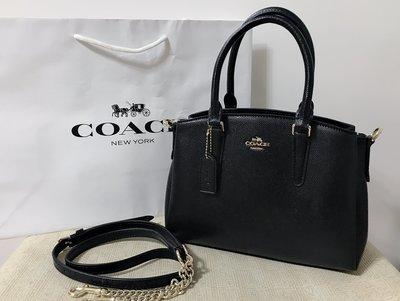 全新 ¥ COACH 28977 黛妃包 小款 兩用包 小款 黑色