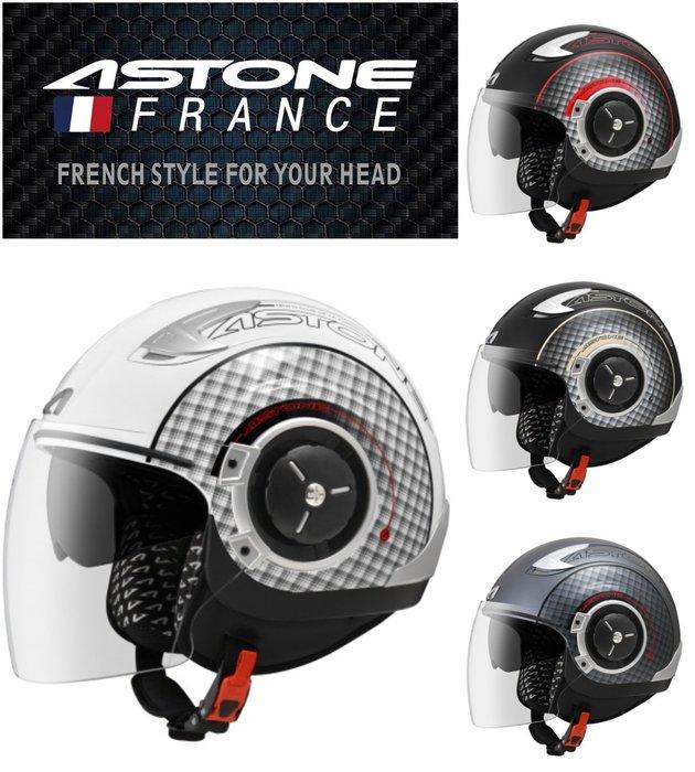 Astone DJ11 彩繪 可拆洗 內建墨鏡 SS11 半罩 安全帽 通風