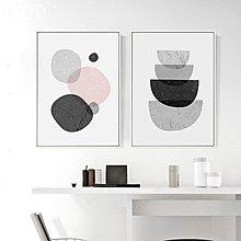 {免運}布顏 幾何 北歐客廳裝飾畫沙發背景墻現代簡約臥室掛畫餐廳壁畫  【飛魚家飾】
