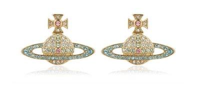 【Chic_sisters】VIVIENNE WESTWOOD KIKA CRYSTAL ORBIT  耳環