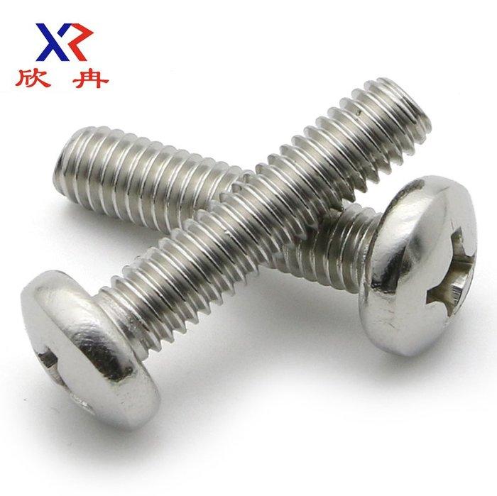 衣萊時尚-【M4】304不銹鋼圓頭螺釘十字盤頭螺絲電工開關插座面板安裝螺釘