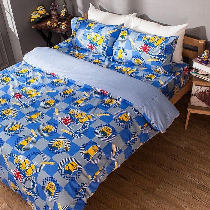 床包 / 雙人加大【小小兵壞蛋來了】含兩件枕套  迪士尼授權  高密度磨毛布  戀家小舖台灣製ABF301