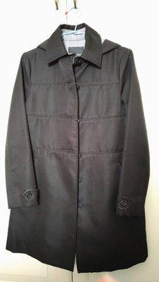 降價出清!極新!日系高單價專櫃clear impression 氣質款黑色連帽風衣