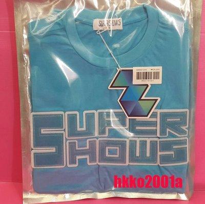SJ [ 短袖 衣服 (藍M號) ] 現貨在台 Super Junior 官方週邊 世巡 演唱會 T恤 T-shirts
