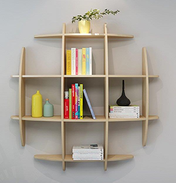 置物架層架 實木展示架層板隔板 牆上置物架創意格子架_☆優購好SoGood☆