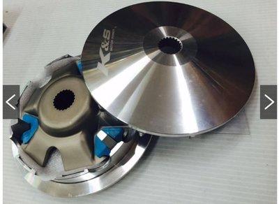 K&S 極速版 雙曲道普利盤組,ADDRESS/V125G/V125/Z125/GSR/NEX鐵拳