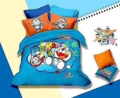 [王哥廠家直销]A款 哆啦A夢 小叮噹 雙人床件組 床包組(被套/枕頭套/床包)-1.5MLeGou_3005_3005