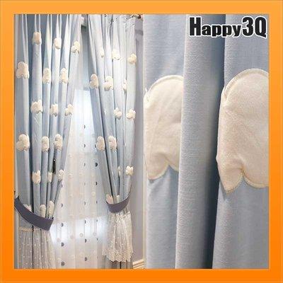 白雲朵朵窗簾藍天白雲窗簾童趣風可愛俏皮藍底白雲網紗雙層窗簾單層窗簾訂製【AAA3365】