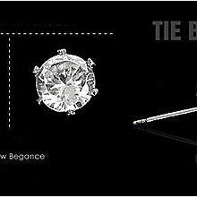 【鐵BOX】A091 閃亮六爪鋼針耳鑽(8mm) 白鑽 / 黑鑽 耳針式耳環 小豬小鬼街頭潮流