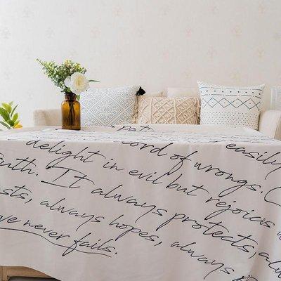 掛布北歐ins背景墻布 現代簡約英文字母掛布臥室民宿裝飾掛毯