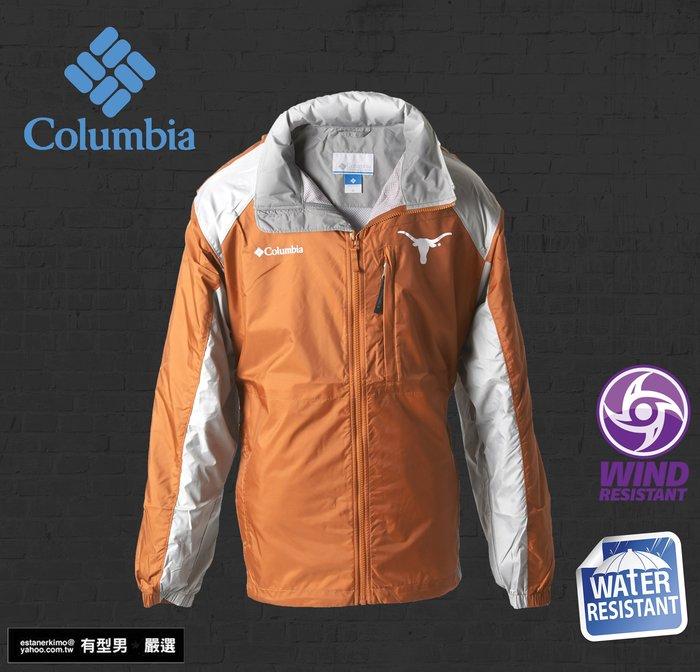 有型男~ Columbia X 美國大學熱身輕便風衣 防風防小雨跑步郊山健走專用 單車機車輕便雨衣 M L XL