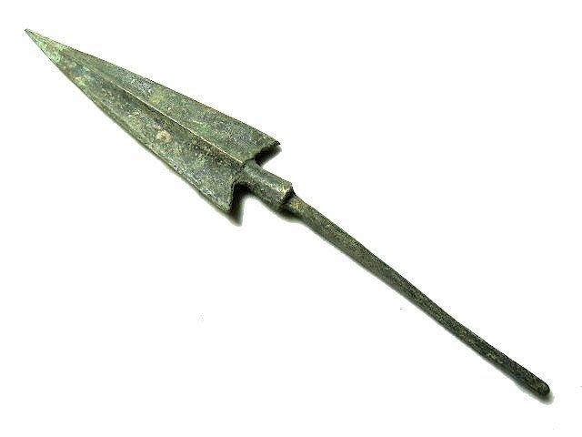 【 金王記拍寶網 】T925  出土文物 青銅器 青銅箭鏃 一支 罕見稀少