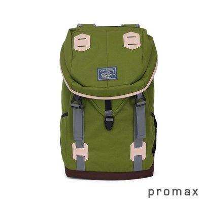 PROMAX 休閒背包 軍綠色 登山包 後背包 防盜包