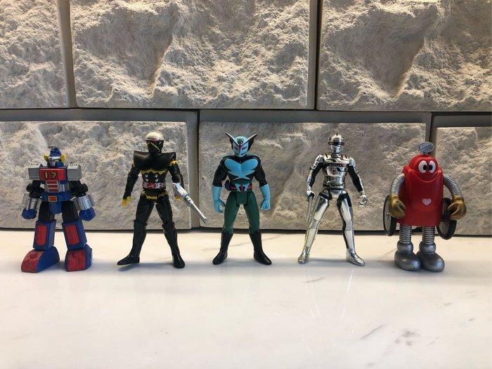 東映 英雄系列 hero action figure  一套 昭和絕版 宇宙刑事 鐵人17號