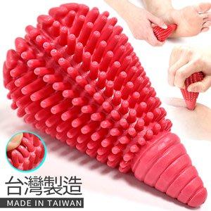台灣製造實心錐型按摩筆手掌按摩錐指壓按摩器穴位經絡按摩棒刺刺按摩球臉部腳底穴道筋膜球觸覺球P260-MS66⊙哪裡買⊙