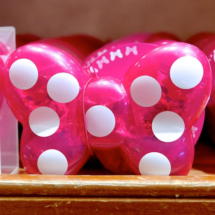 Ariel's Wish-日本東京迪士尼米妮minne蝴蝶結水玉點點收納盒糖果盒糖果罐隨身藥罐盒盒子玩具盒珠寶盒飾品盒子