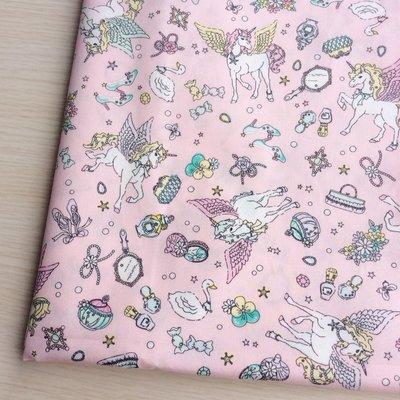 *樂芙領巾/手作*粉底珠寶夢幻獨角獸飛馬款(台灣薄棉布),嬰兒/兒童三角巾、口水巾、圍兜,可訂製大小及親子領巾