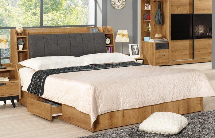 摩德納5尺被櫥式雙人床/床頭箱+三抽屜床底(另有6尺雙人床)😊暖暖屋傢俱傢飾😊