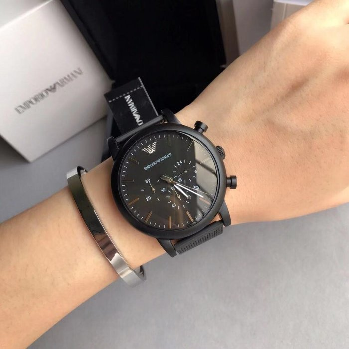 ARMANI 全新潮流時尚男士石英手錶 附盒子