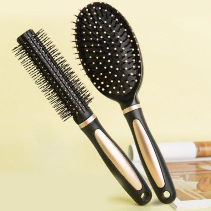 梳子兩件組氣囊氣墊按摩梳子防靜電卷髮梳圓筒滾梳美髮造型梳(2件1組)_☆優購好SoGood☆