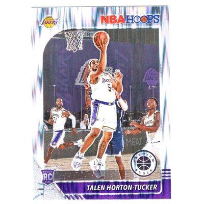 倒數5張、閃銀亮!(RC) 湖人未來 Talen Horton-Tucker 必漲NBA Hoops Premium Flash Prizm版新人RC金屬卡