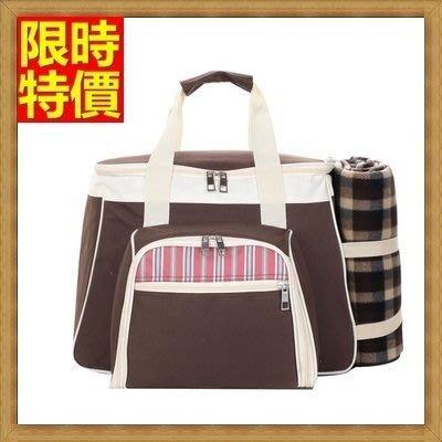 野餐包 2人餐具組 手提包-典雅手提氣質大容量雙頭拉鍊好開合野餐包 68ag47[獨家進口][米蘭精品]
