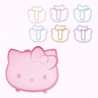 *凱西小舖*日本進口三麗歐正版KITTY&TINY CHUM彩虹熊迴紋針附收納盒