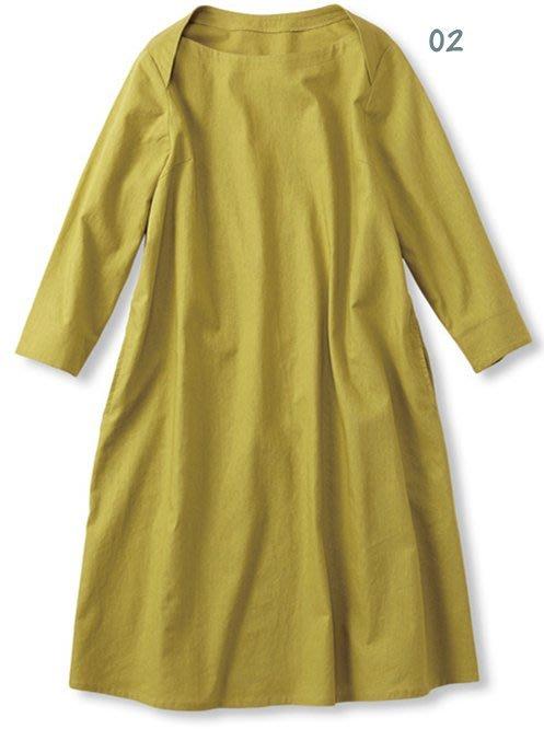 Syrup 人氣連載定番 と大人気の麻混ワンピ。棉麻七分袖連身裙 (現貨款特價) 日本官網人氣亞軍 補貨到!