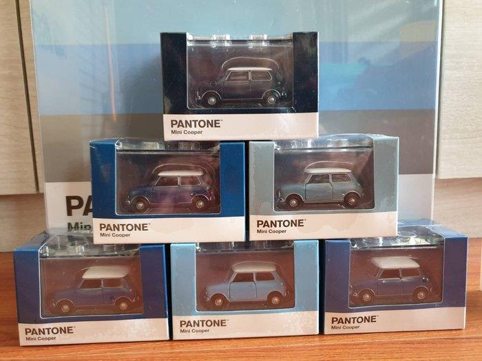 【TINY微影精品】1/64 Mini Cooper Pantone 全新限量版六台一組藍色系列~現貨特惠價~!