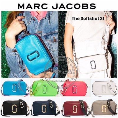 賈靜雯款 軟皮款 全新真品 marc jacobs The Softshot 21 相機包_MJ Snapshot