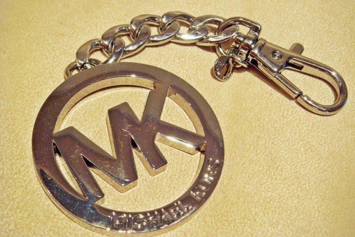 全新日本帶回 Michael Kors MK 銀色鑰匙圈,含原外盒標籤,低價起標無底價!本商品免運費!