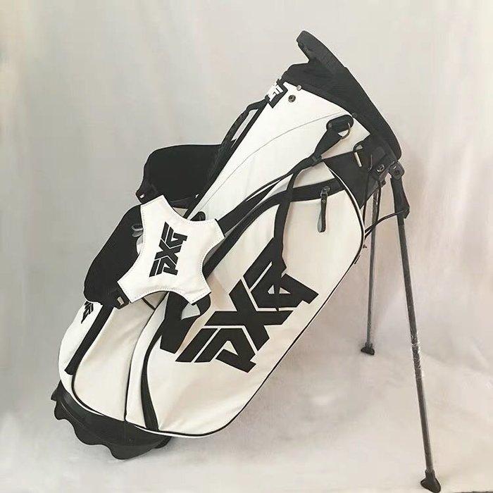 5C精選@2018新款高爾夫PXG支架包 高爾夫球包 輕便 便攜 白色