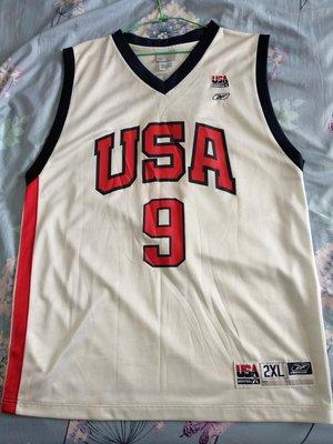 Reebok Paul Pierce USA 美國隊球衣(Size 2XL 已改過長寬)