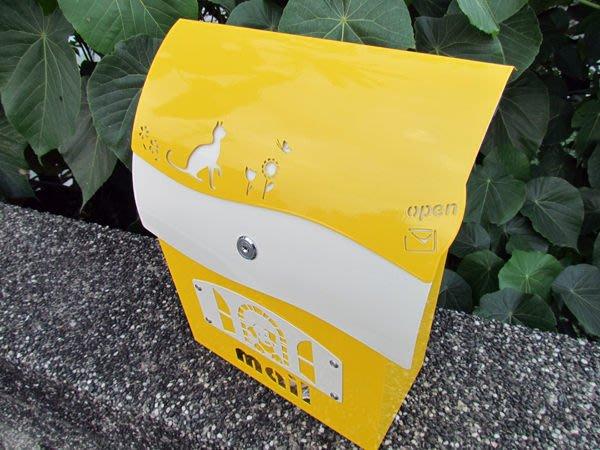 ☆成志金屬廠 ☆ 不鏽鋼信箱(小)--有鎖--亮彩黃,亮眼耐用,民宿家用皆宜