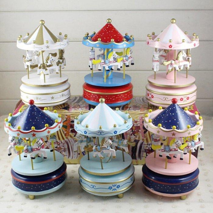 音樂盒-旋轉木馬蛋糕裝飾創意畢業生日交換禮物送小朋友女友閨蜜