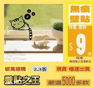 壁貼之王【山中幸福】正品防水不傷牆重複 萬用隨意貼 《開關貼 睡貓zzz 黑E-K-006》13*高16cm -iin 台北市