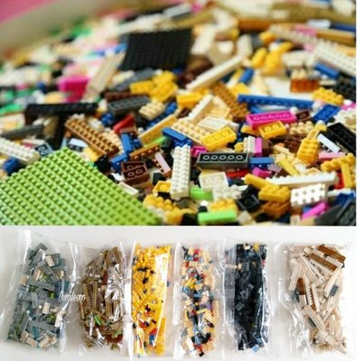 Osmileooo-一包無圖紙 微型小顆粒積木模型玩具